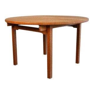 Vintage Kurt Ostervig Round Oak Dining Table