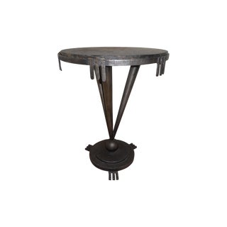 Vintage 1930's Art Deco Side Table W/ Marble Top