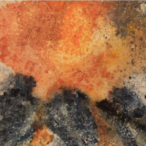 "Mixed Media Artwork - ""Erupting Volcano"" - Image 3 of 6"