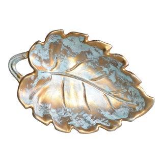 Stangl Gold Leaf Ceramic Catchall Bowl
