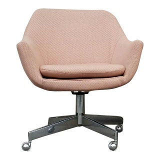 Vintage Mid-Century Pastel Pink Executive Office Chair