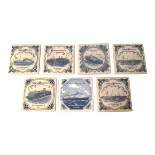 Vintage Cruise Line Coasters - Set of 7