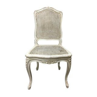 Caned French-style Shabby Chic Side Chair