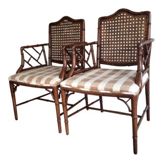 Faux Bamboo Armchairs - a Pair