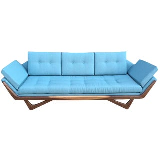 Mid-Century Sculptural Sofa in Powder Blue