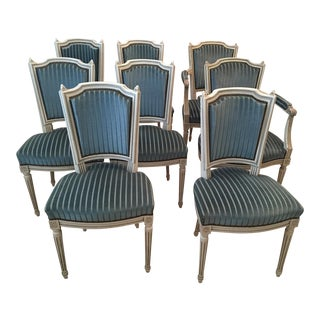 French Louis XVI Style Dining Chairs - Set of 8
