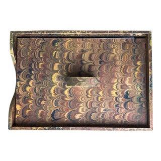 Vintage Florentine Desk Organizer-Marbelised Paper