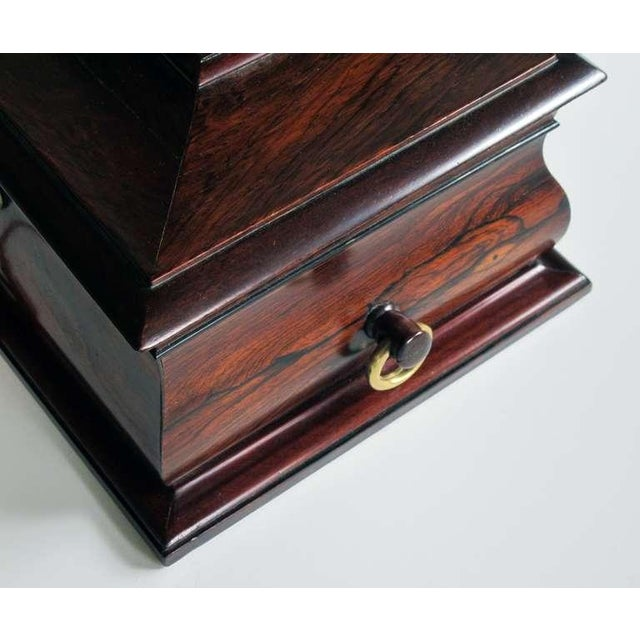 A Handsome and Well-Made English Regency Rosewood Bombe-Form Jewelry Box - Image 6 of 7