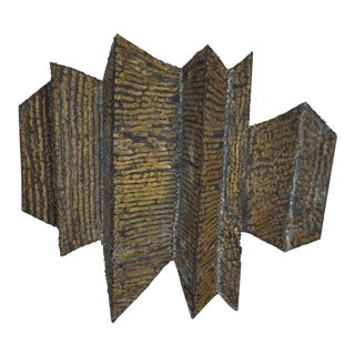 Brutalist Paul Evans Era Multi Angled Steel Irregular Quadrilateral Sculpture