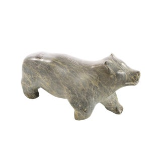 Inuit Beautiful Vintage Polar Bear-carved stone sculpture