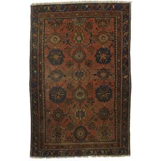 Hand-Knotted Wool Persian Hamedan - 3′1″ × 5′8″