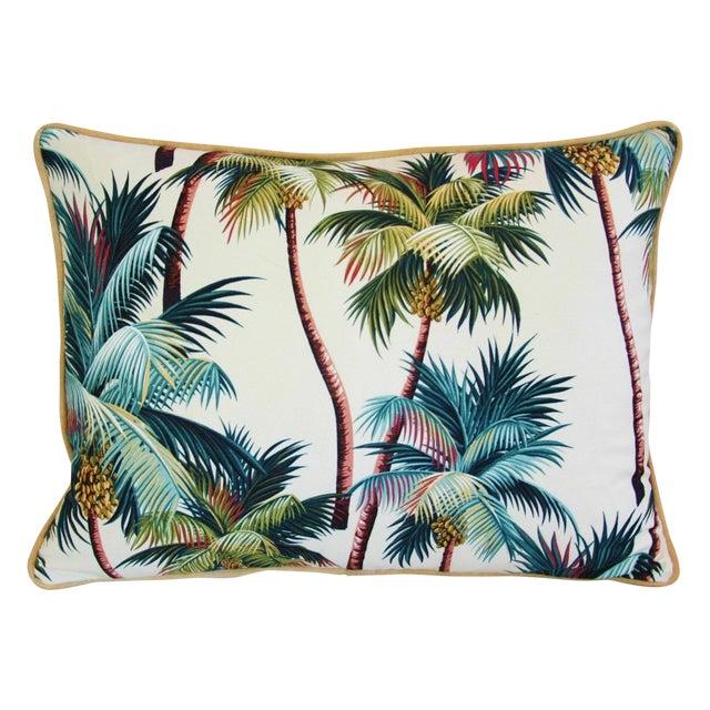 Custom Tropical Coconut Palm Tree Pillow - Image 1 of 4