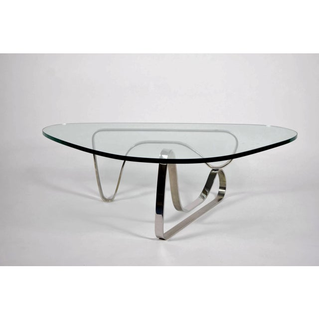Luxury Noguchi Style Coffee Table with Stainless Steel Base | DECASO
