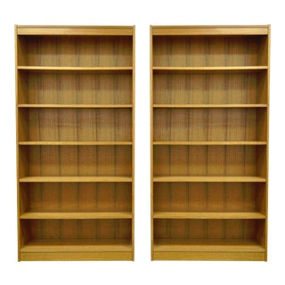Mid-Century Teak Veneer Bookcases - A Pair