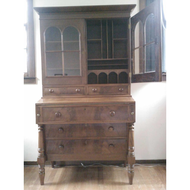 Antique Secretary Desk with Shelving - Image 2 of 9