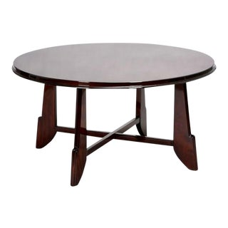 Art Deco Round Rosewood Coffee Table