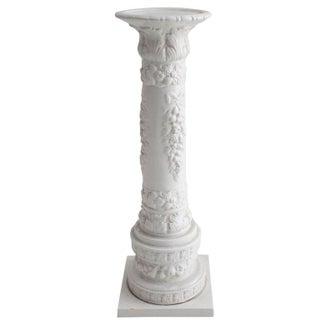 Italian White Porcelain Plant Pedestal