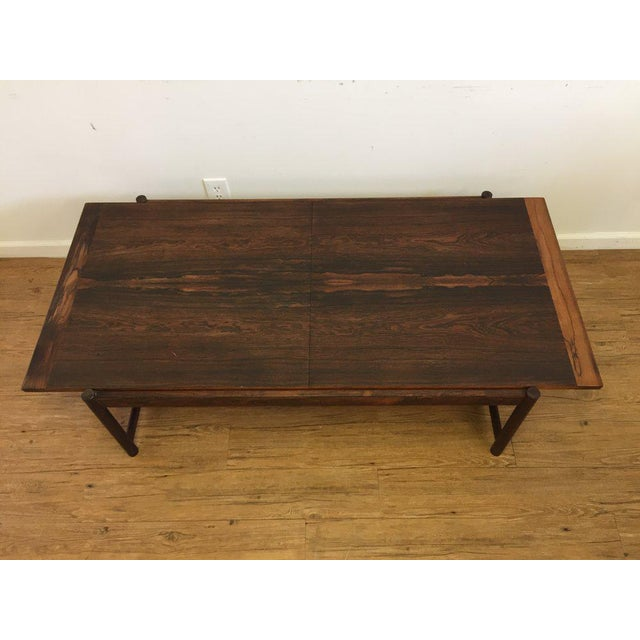 Danish Mid Century Modern Rosewood Flip Top Coffee Table Chairish