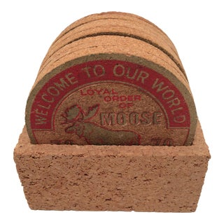 8 Cork Loyal Order Of Moose 78-79 Award Coasters