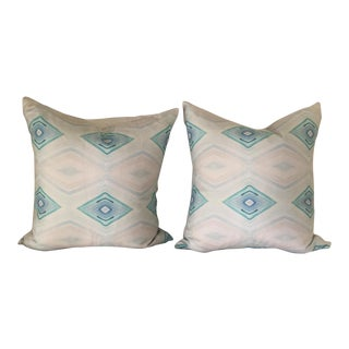 Bungalow Turquoise Pillows - A Pair