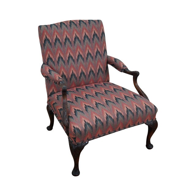 Image of Antique Mahogany Frame Georgian Style Carved Chair