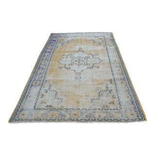 Wool Handmade Turkish Oushak Area Rug - 5′5″ × 8′2″