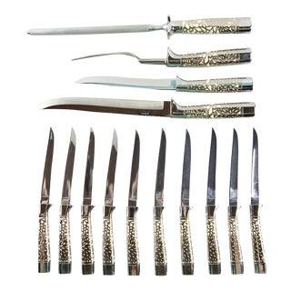 Carvel Hall Carving Set & Steak Knives - Set of 14