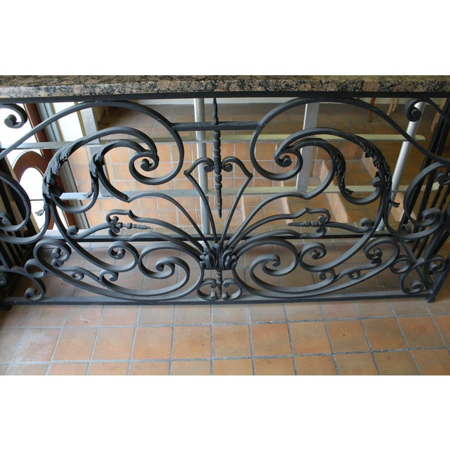 Antique reclaimed french ironwork balcony console chairish for Balcony console