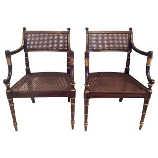 Vintage Baker Regency Chairs - A Pair