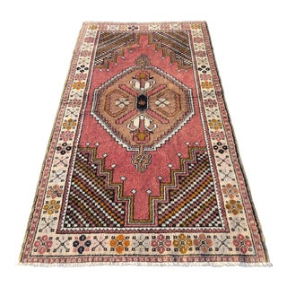 Vintage Turkish Anatolian Rug - 3′10″ × 7′4″