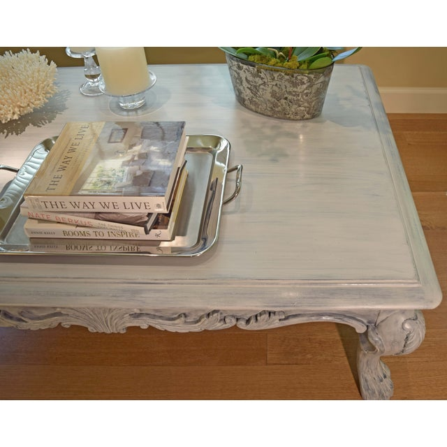 Hand Painted Paris Gray Coffee Table - Image 8 of 10