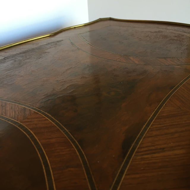 Image of Louis XV Style Parquetry Inlaid Table, Mid 19th C