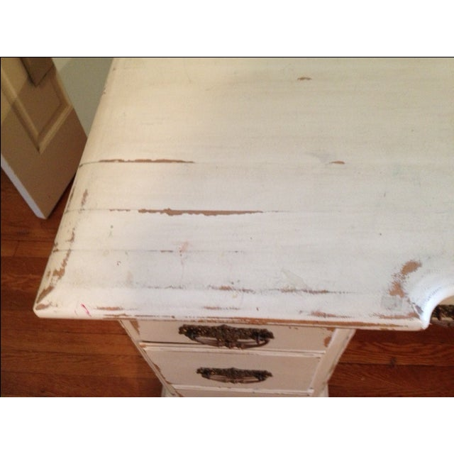 Image of 1950s White Solid Wood Desk