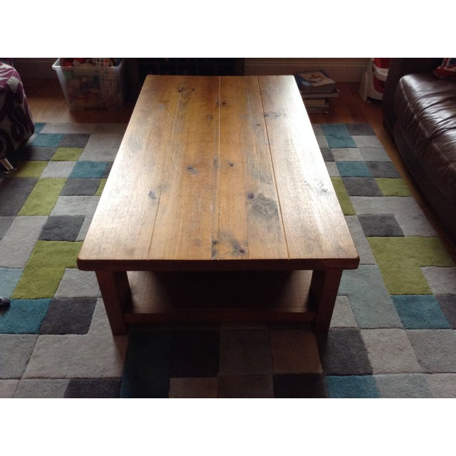Solid Walnut Wood Coffee Table - Image 9 of 11