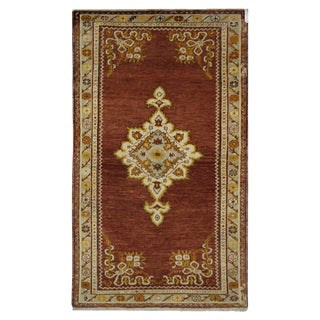 Vintage Turkish Oushak Rug - 3′4″ × 6′7″