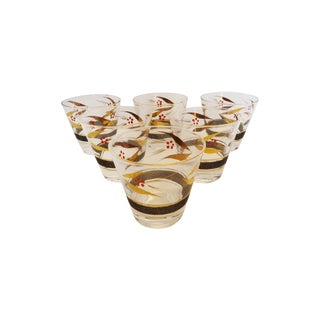 Old Fashion High Ball Glasses - Set of 6