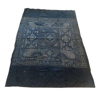 Faded Black Batik Textile Panel