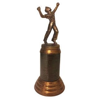 Vintage Engraved 1939 Tennis Trophy