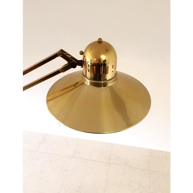 Vintage Brass Floor Lamp Alsy Grasshopper - Image 6 of 9