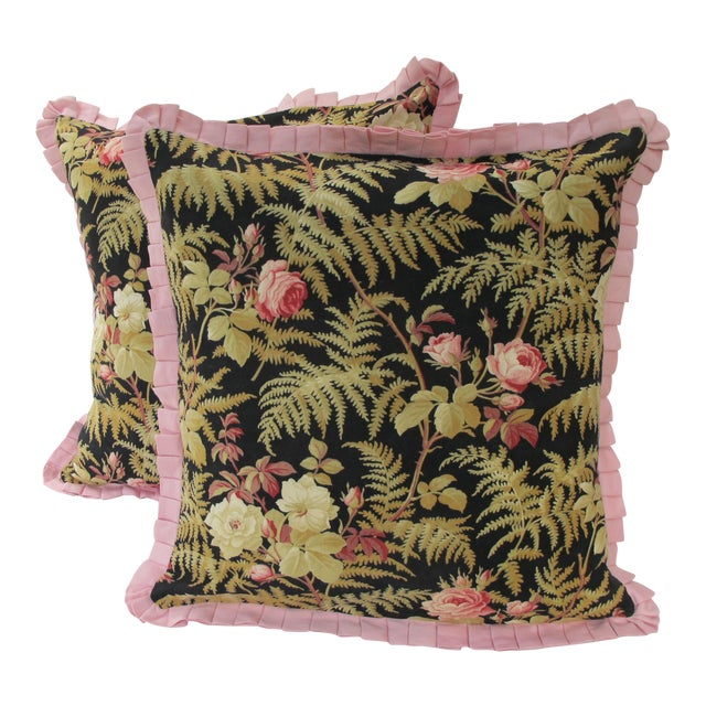 19th C. French Fabric Pillows - A Pair - Image 1 of 3
