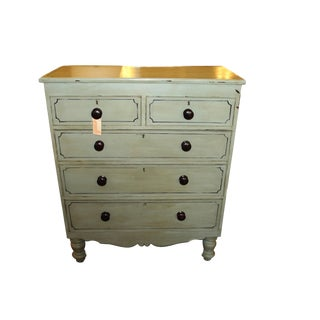 Victorian Green Painted Chest
