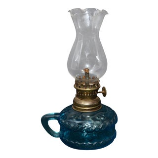 Miniature Oil Lamp With Hurricane