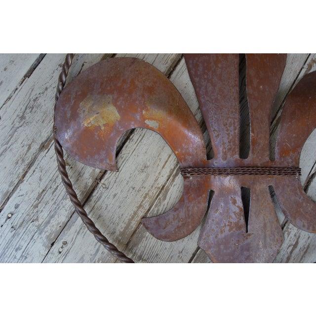 Image of Rustic Fleur De Lis Wall Hanging