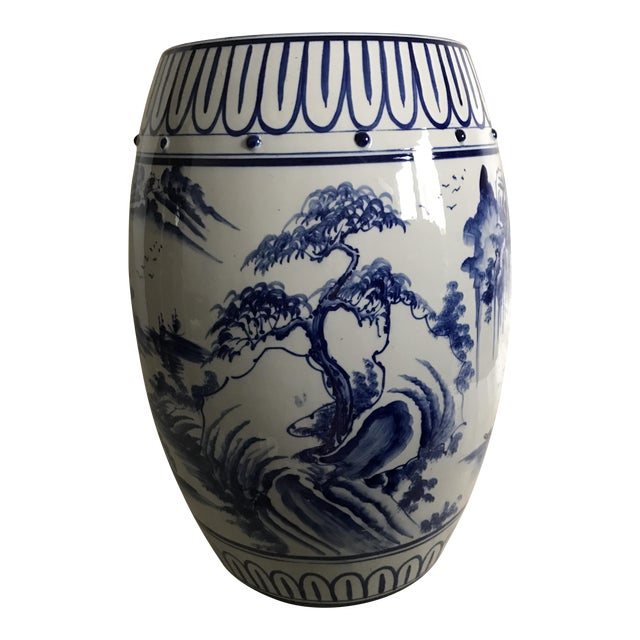 Antique Chinoiserie Ceramic Garden Stool - Image 1 of 6