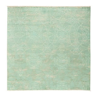 "Over-Dyed Hand Knotted Area Rug - 6'1"" X 6'1"""