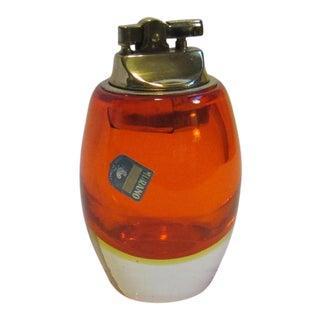 Alfredo Barbini Murano Glass Table Lighter