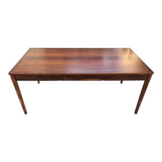 Danish Modern Rosewood Expandable Dining Table