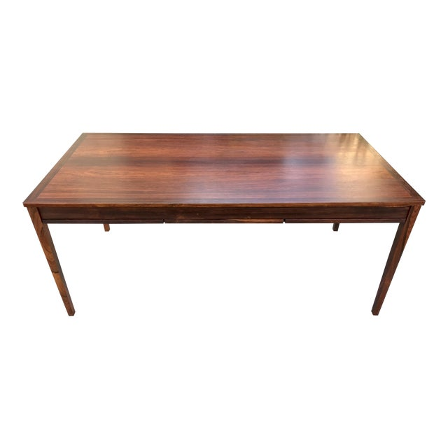 Danish Modern Rosewood Expandable Dining Table  Chairish