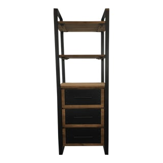 Hd Buttercup Metal and Laminate Wood Bookcase