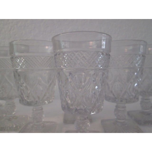 Mid-Century Footed Glass Tumblers - Set of 12 - Image 5 of 5